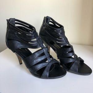 Spring open toe stiletto heel